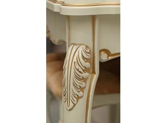"""Стол туалетный """"Альба 22Т"""" П 524.22 (слоновая кость с золочением)"""