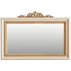 Зеркало «Альба 18» П485.18к (слоновая кость с золочением)