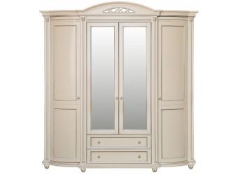 Шкаф для одежды «Валенсия 4» П254.11 (античная темпера с серебром)