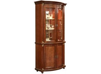 Шкаф-витрина для гостиной «Валенсия 2з» П244.15 (каштан)