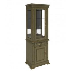 Шкаф комбинированный «Верди Люкс 1з» П487.34-01з (лесной орех)