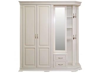 Шкаф комбинированный для прихожей «Верди Люкс 1.1» П433.01-01 (слоновая кость)
