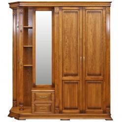 Шкаф комбинированный для прихожей «Верди Люкс 1» П433.01 (дуб рустикаль с патинированием)