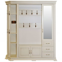 Шкаф комбинированный для прихожей «Верди Люкс 2.1» П433.02-01 (слоновая кость)