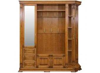 Шкаф комбинированный для прихожей «Верди Люкс 2» П433.02 (дуб рустикаль с патинированием)