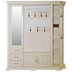 Шкаф комбинированный для прихожей «Верди Люкс 2» П433.02 (слоновая кость)