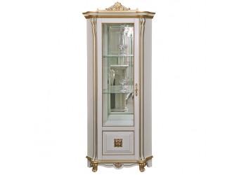 Шкаф-витрина «Алези 10 Люкс» П350.13-01л (слоновая кость с золочением)