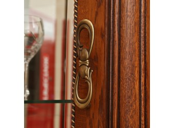 Шкаф-витрина «Алези 10» П 350.13 (античная бронза)