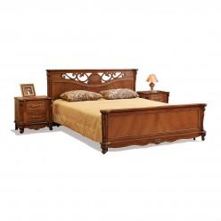Кровать двойная Алези с высоким изножьем (античная бронза)