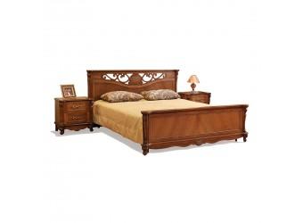 Кровать двойная Алези (античная бронза) с подъемным механизмом, высокое изножье