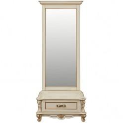 Зеркало напольное «Алези 1» П 350.15 (слоновая кость с золочением)