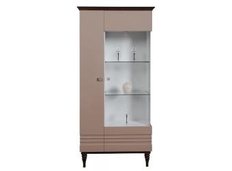 Шкаф «Ирис» П529.04  (капучино глянец/венге)
