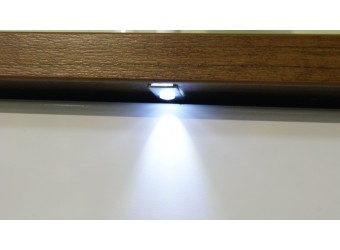 Шкаф-пенал Монако П 510.12 с подсветкой (дуб саттер/белый глянец)