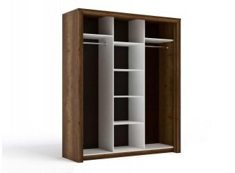 Трехстворчатый шкаф-купе для одежды Г-14 (ДГТ) Гарда с зеркалом