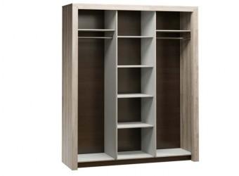 Трехстворчатый шкаф-купе для одежды Г-14 (ЯТ) Гарда с зеркалом