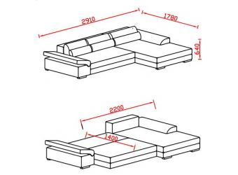 Угловой диван-кровать San-Diego от Сола-М