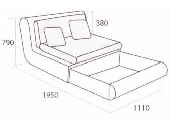 Модуль дивана Kormak (Кормак) 110Я левый