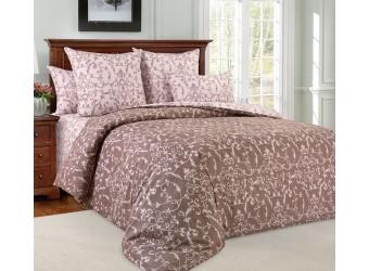 Комплект постельного белья Вирджиния коричневый
