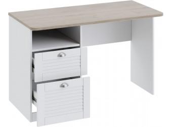Письменный стол с ящиками «Ривьера» (Дуб Бонифацио/Белый) ТД-241.15.02