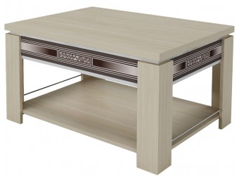 Раздвижной журнальный столик Агат 24.10 дуб кобург, синга крем