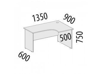 Угловой компьютерный стол Альфа 62.61 правый