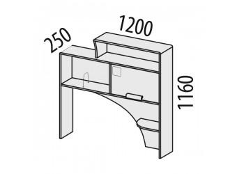 Надстройка для компьютерного стола Фристайл 56.24