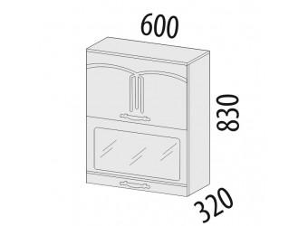 Шкаф-витрина кухонный навесной Каролина 11.08