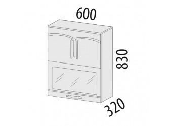 Шкаф-витрина Каролина 11.80 (с системой плавного закрывания)
