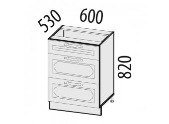Шкаф кухонный напольный Милана 23.91 (с системой плавного закрывания)