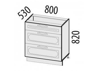 Шкаф кухонный напольный Милана 23.92 (с системой плавного закрывания)