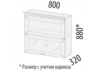 Шкаф-витрина Оливия 71.81 (с системой плавного закрывания)