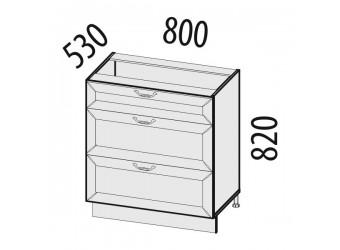 Шкаф кухонный напольный Оливия 71.92 (с системой плавного закрывания)