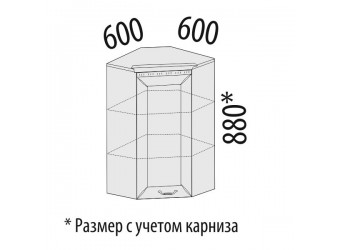 Шкаф кухонный угловой Оливия 72.20