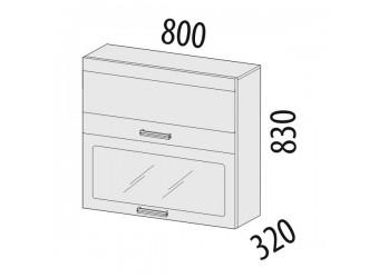 Шкаф-витрина кухонный навесной Оранж 09.09