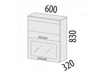 Шкаф-витрина кухонный навесной Палермо 08.08