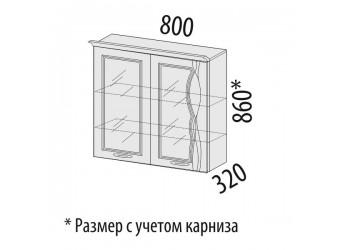 Шкаф-витрина кухонный навесной Софи 22.15
