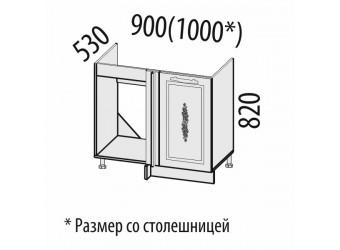 Шкаф под мойку угловой Виктория 20.52
