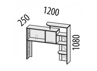 Надстройка для компьютерного стола Мегаполис 55.23