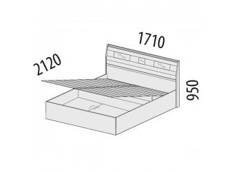 Двуспальная кровать Розали 96.21.1 с подъемным механизмом