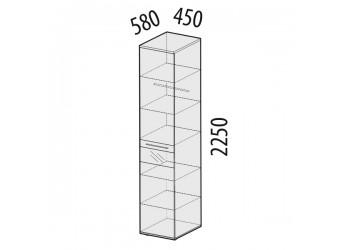 Шкаф-пенал для одежды Розали 96.10 левый