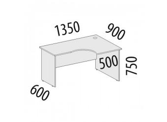 Угловой компьютерный стол Рубин 42.47 правый