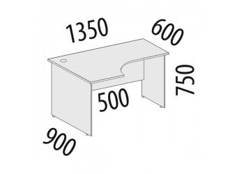 Угловой компьютерный стол Рубин 42.48 левый