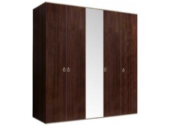 Пятистворчатый шкаф для одежды с зеркалом Rimini РМШ1/5 (орех орегон)