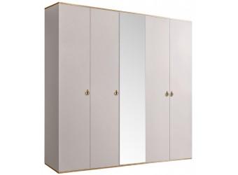 Пятистворчатый шкаф для одежды с зеркалом Rimini РМШ1/5 (слоновая кость)