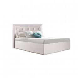 Односпальная кровать с мягкой спинкой Амели АМКР120-6 (дуб)