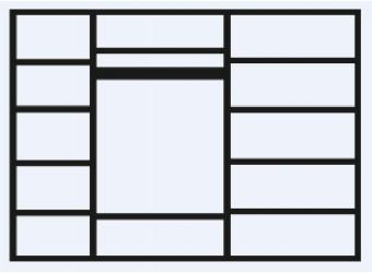 Пятистворчатый шкаф для одежды Амели АМШ2/5 (штрих-лак)