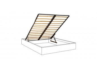 Двуспальная кровать с подъемным механизмом Тиффани Премиум ТФКР-2(П) с мягкой спинкой со стразами (слоновая кость, золото)