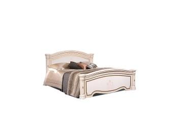 Двуспальная кровать Карина-3 К3КР-1 с шелкографией (бежевая)