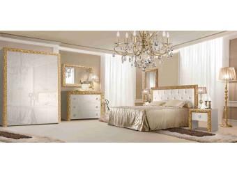 Спальня Тиффани Премиум 2 (слоновая кость, золото)