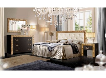 Спальня Тиффани Премиум (черный, золото)